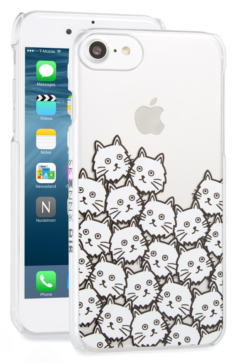 SKINNYDIP Skinny Dip Cat Faces iPhone 7 Case, Main, color, 100