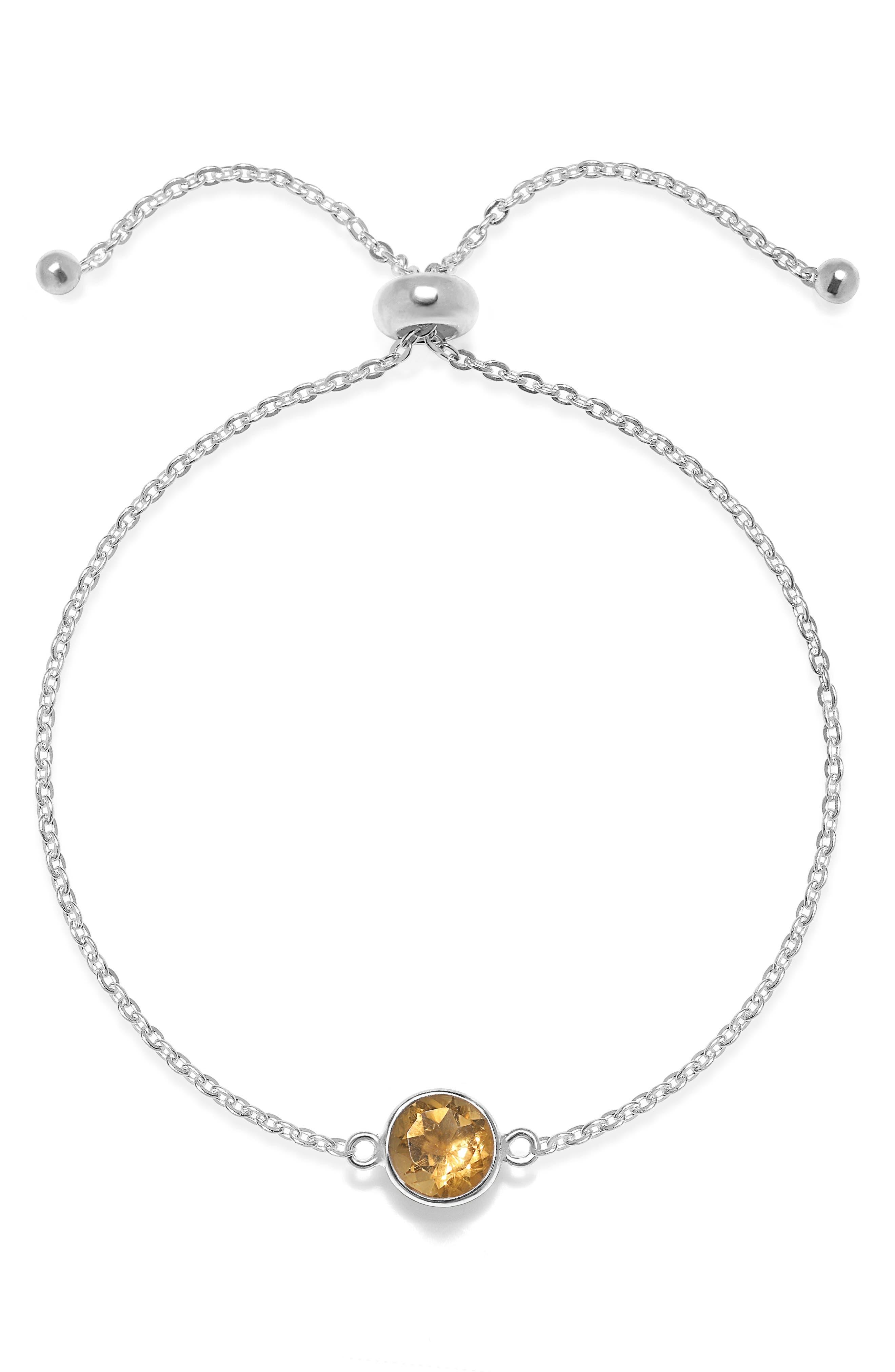 Amelia Rose Birthstone Bracelet in December/Sky Blue Topaz Gold at Nordstrom