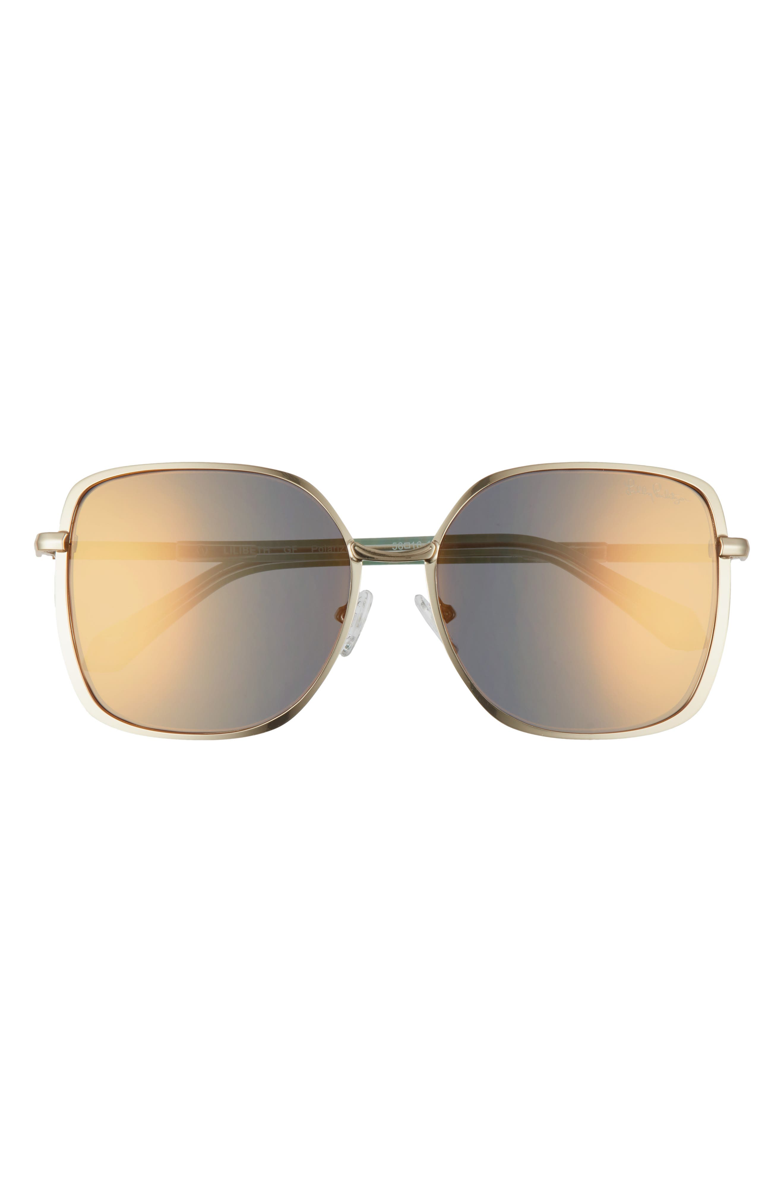 Women's Lilly Pulitzer Lilibeth 58mm Polarized Square Sunglasses