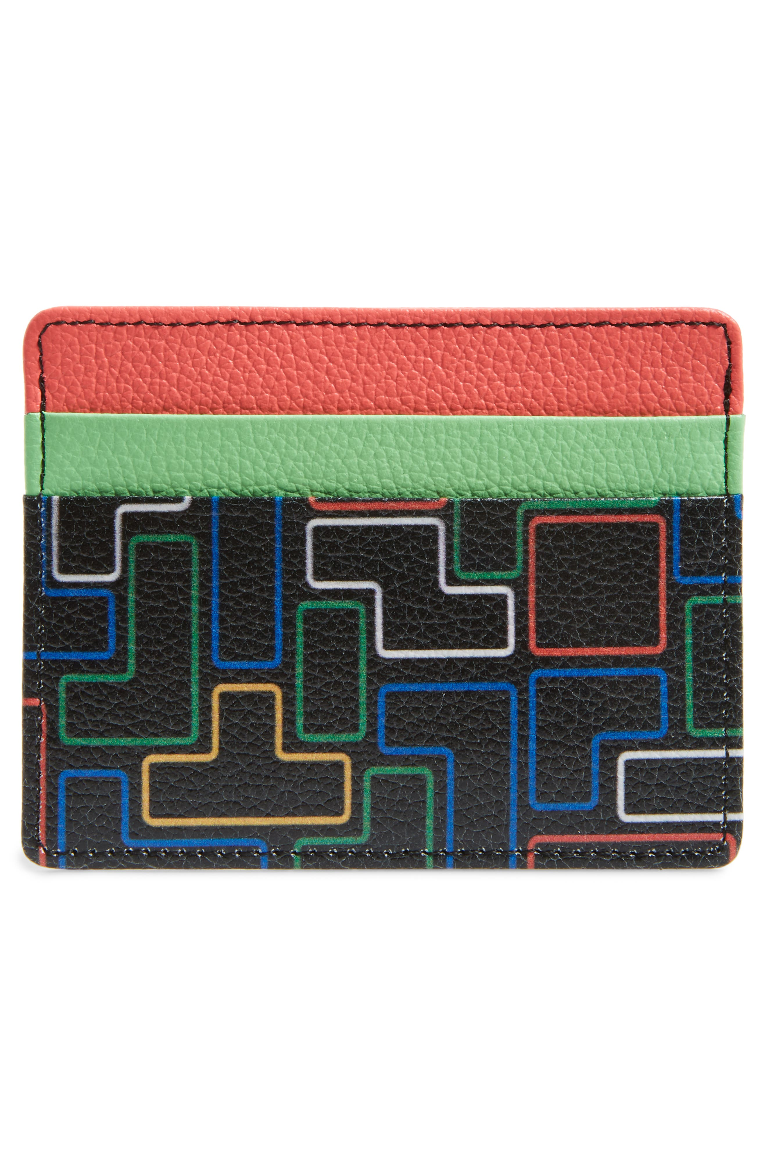 ,                             Jamie Leather Card Case,                             Alternate thumbnail 4, color,                             002