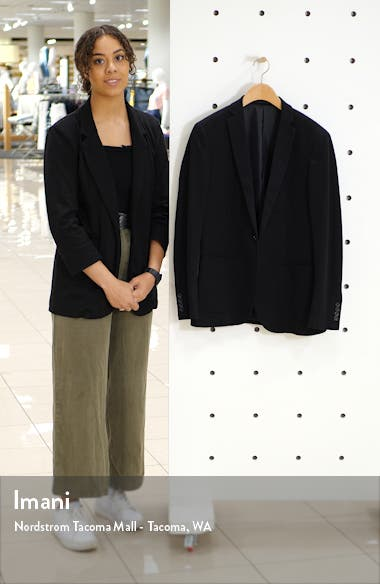 Slim Fit Solid Jersey Blazer, sales video thumbnail