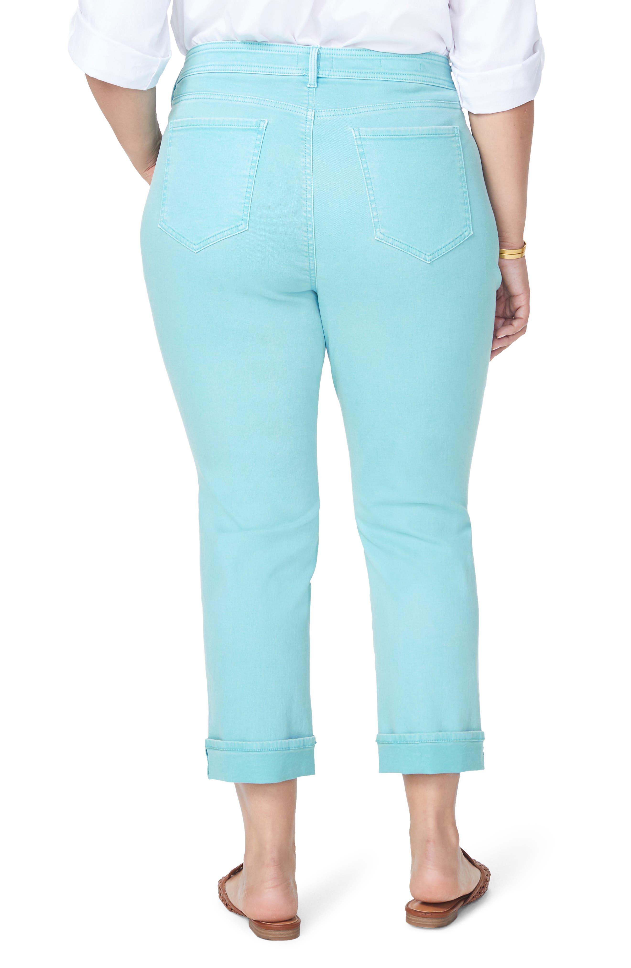 ,                             Marilyn Cuff Straight Leg Jeans,                             Alternate thumbnail 2, color,                             BLUE DAISY