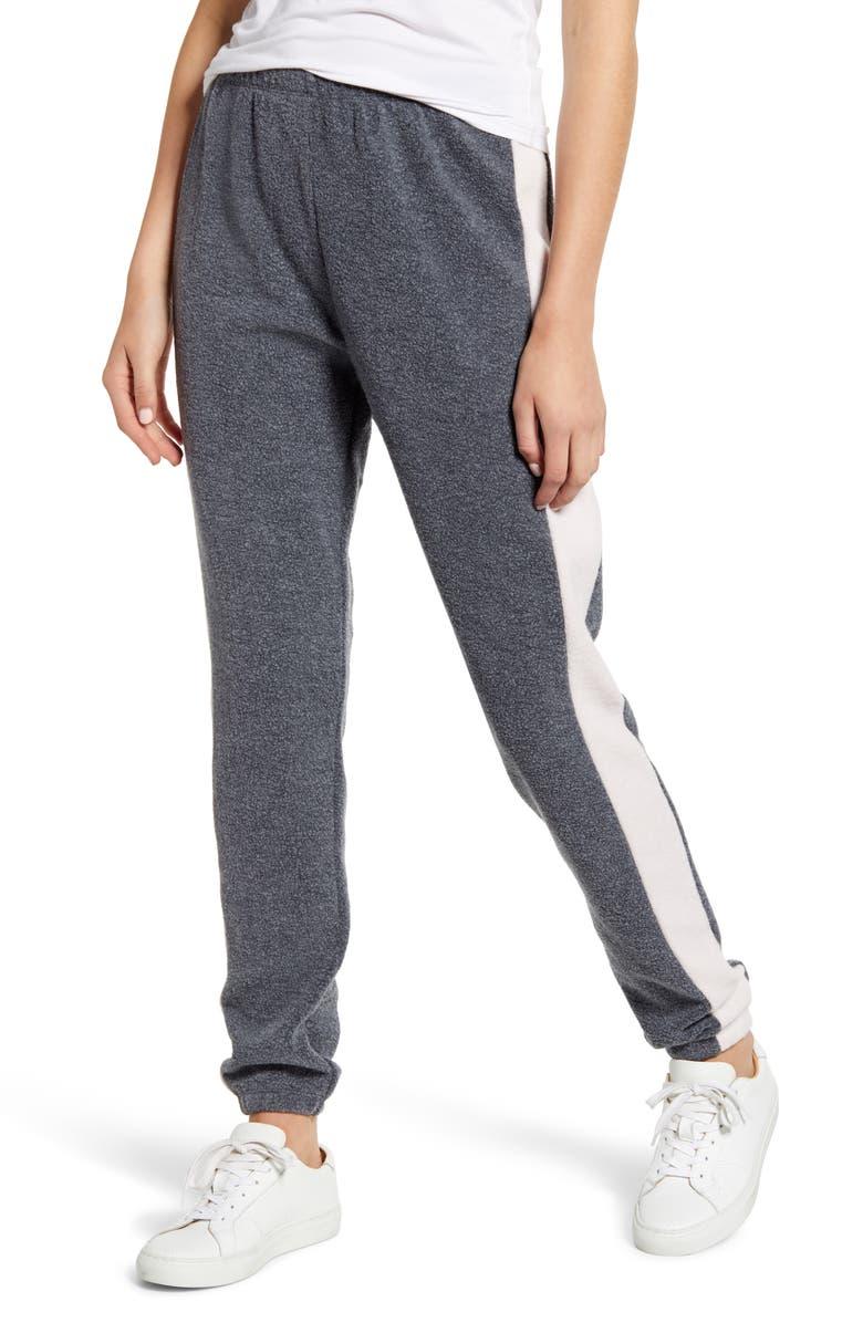 WILDFOX Track Star Knox Sweatpants, Main, color, NIGHT/ ROSE
