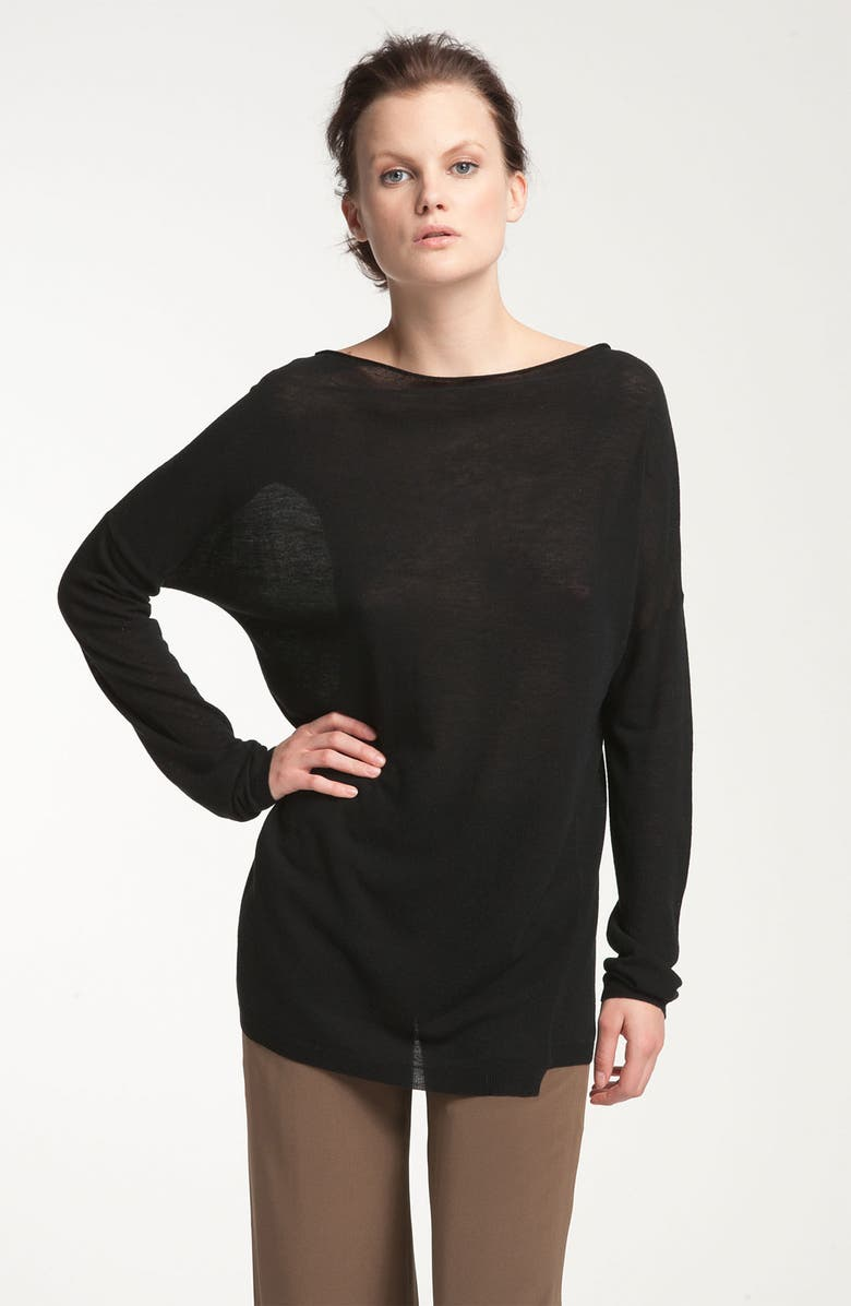 VINCE Lightweight Boatneck Top, Main, color, 001