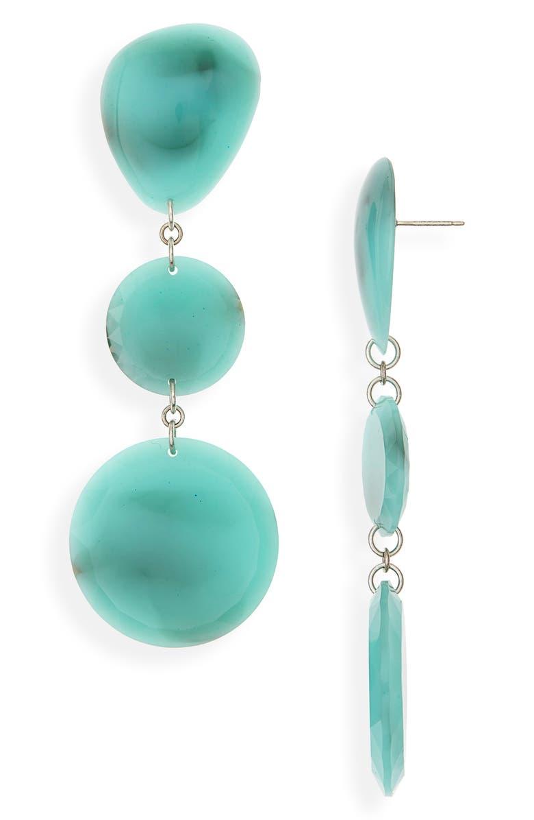 ISABEL MARANT Resin Drop Earrings, Main, color, 400