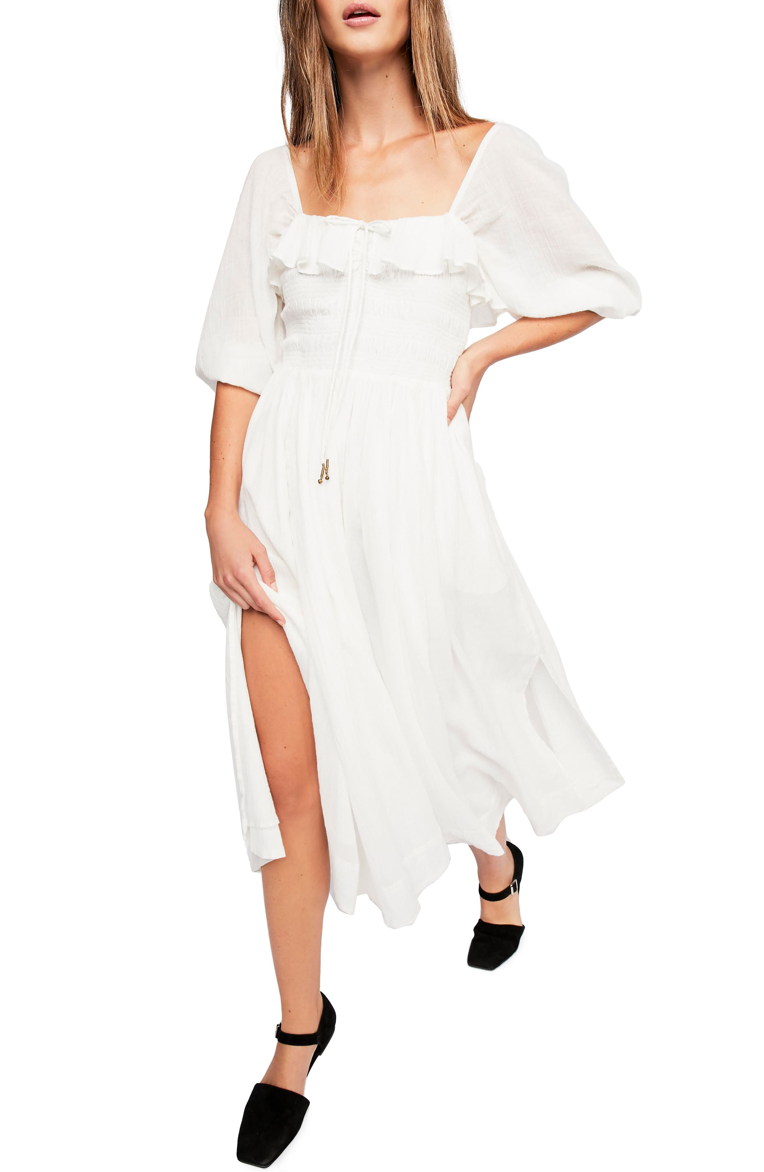 Endless Summer By Free People Ruffle Maxi Dress, Ivory