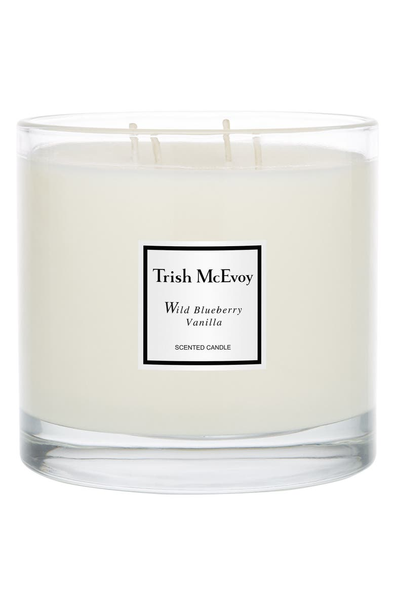 TRISH MCEVOY 'Wild Blueberry Vanilla' Scented Candle, Main, color, NO COLOR