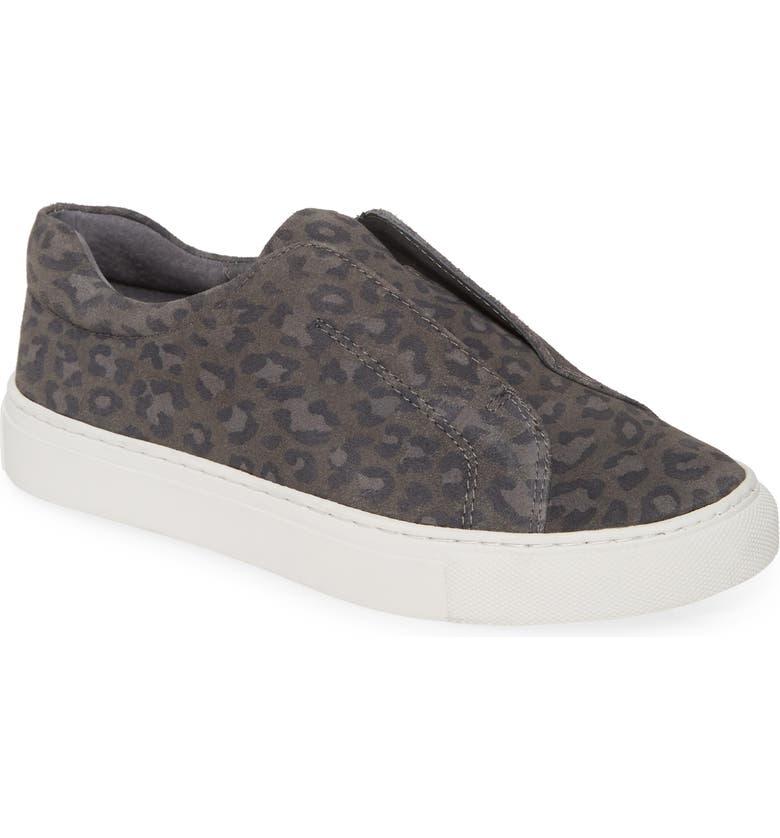JSLIDES Luv Slip-On Sneaker, Main, color, BLACK SUEDE
