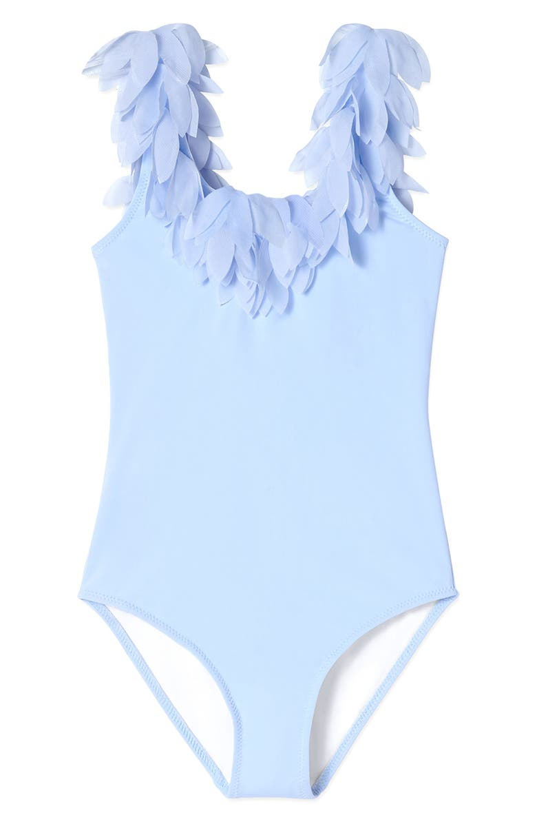 STELLA COVE Blue Petal Tank Swimsuit, Main, color, BLUE