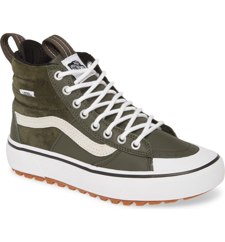 VANS Sk8-Hi MTE 2.0 DX Water Resistant High Top Sneaker, Main, color, FOREST NIGHT/ TRUE WHITE