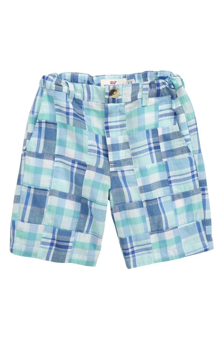 VINEYARD VINES Breaker Madras Shorts, Main, color, CRYSTAL BLUE