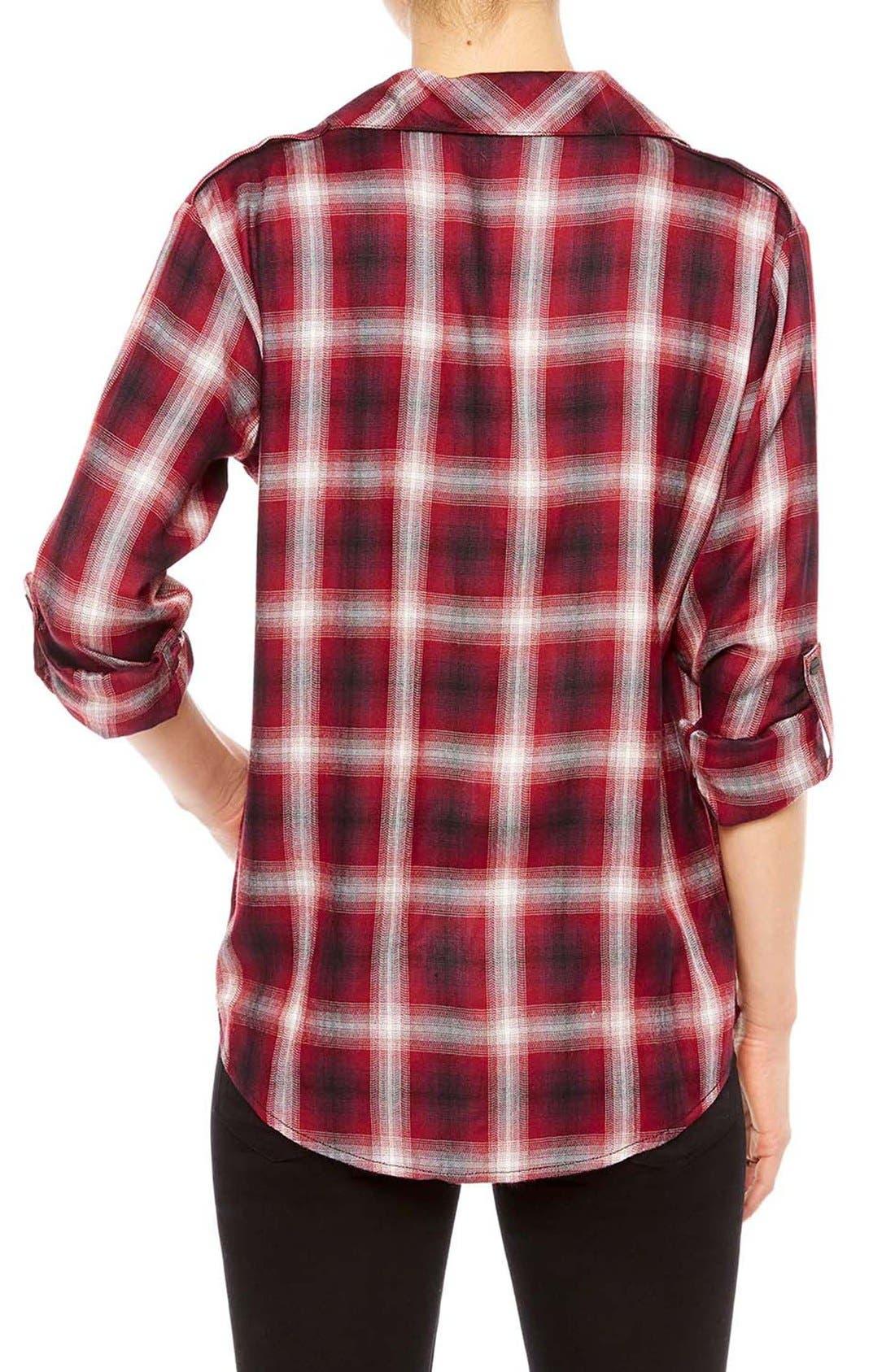 ,                             Plaid Flannel Boyfriend Shirt,                             Alternate thumbnail 10, color,                             601