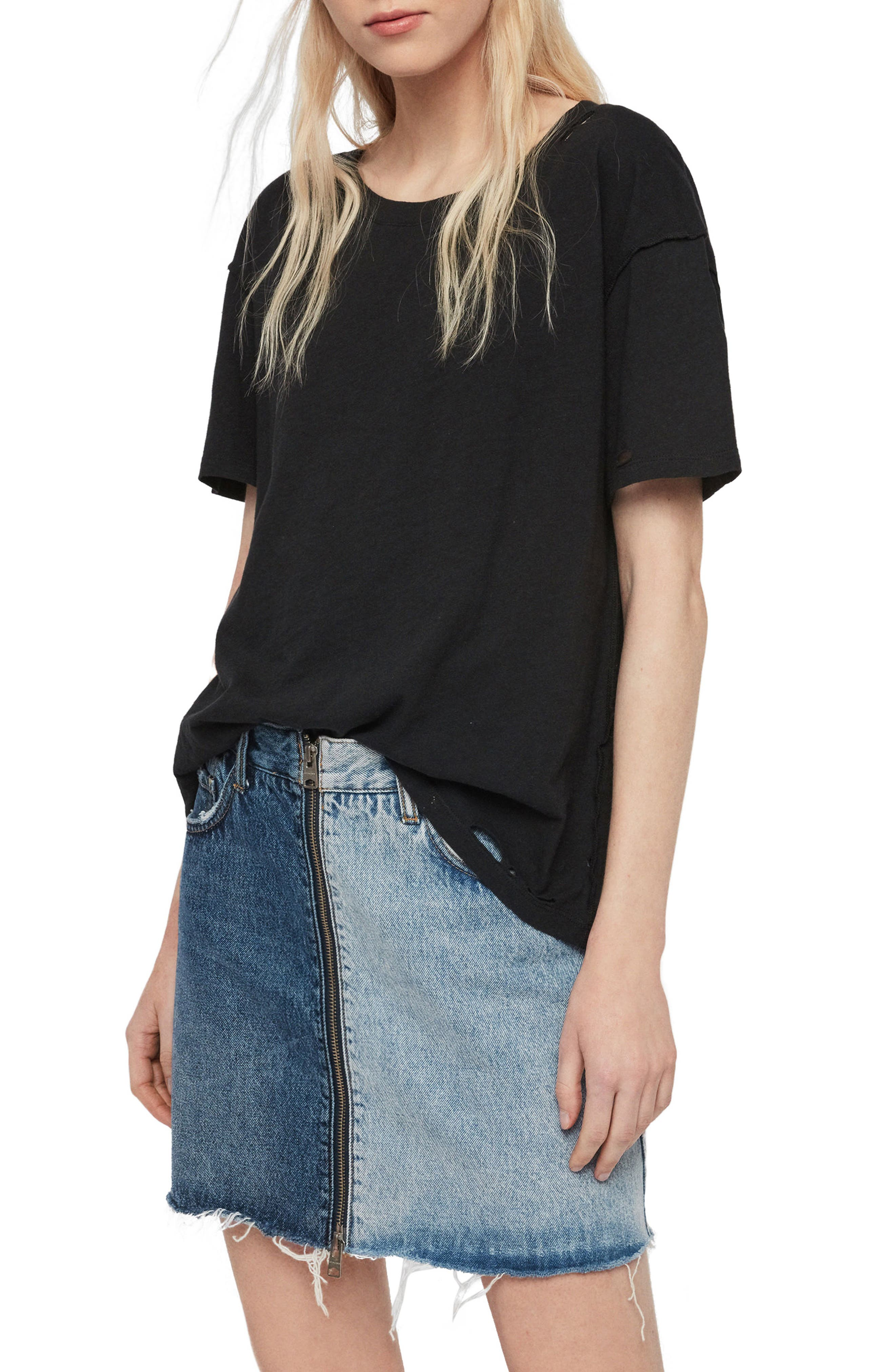 Image of ALLSAINTS Dime Distressed T-Shirt