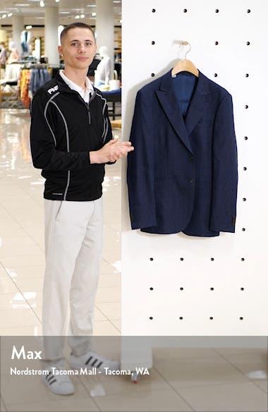 Trim Fit Solid Stretch Linen Blend Sport Coat, sales video thumbnail