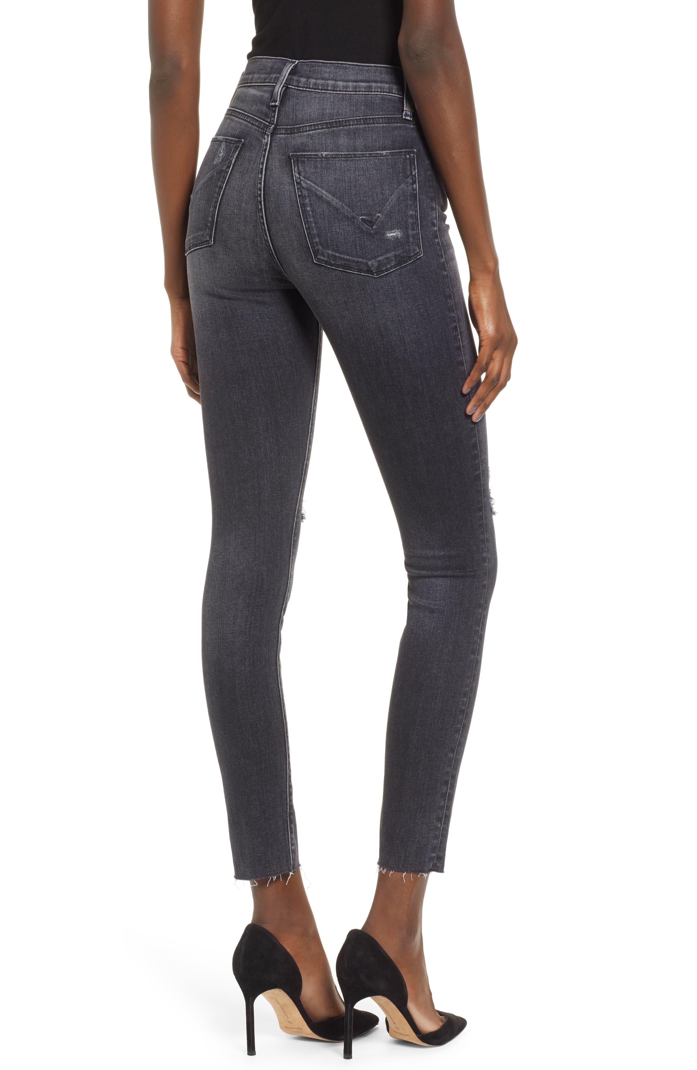 ,                             Barbara Distressed High Waist Ankle Skinny Jeans,                             Alternate thumbnail 2, color,                             WORN KONA
