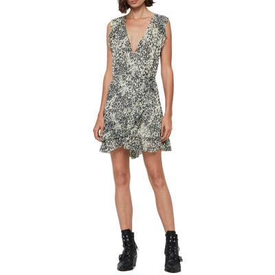 Allsaints Priya Patch Leopard Print Sleeveless Dress, Ivory
