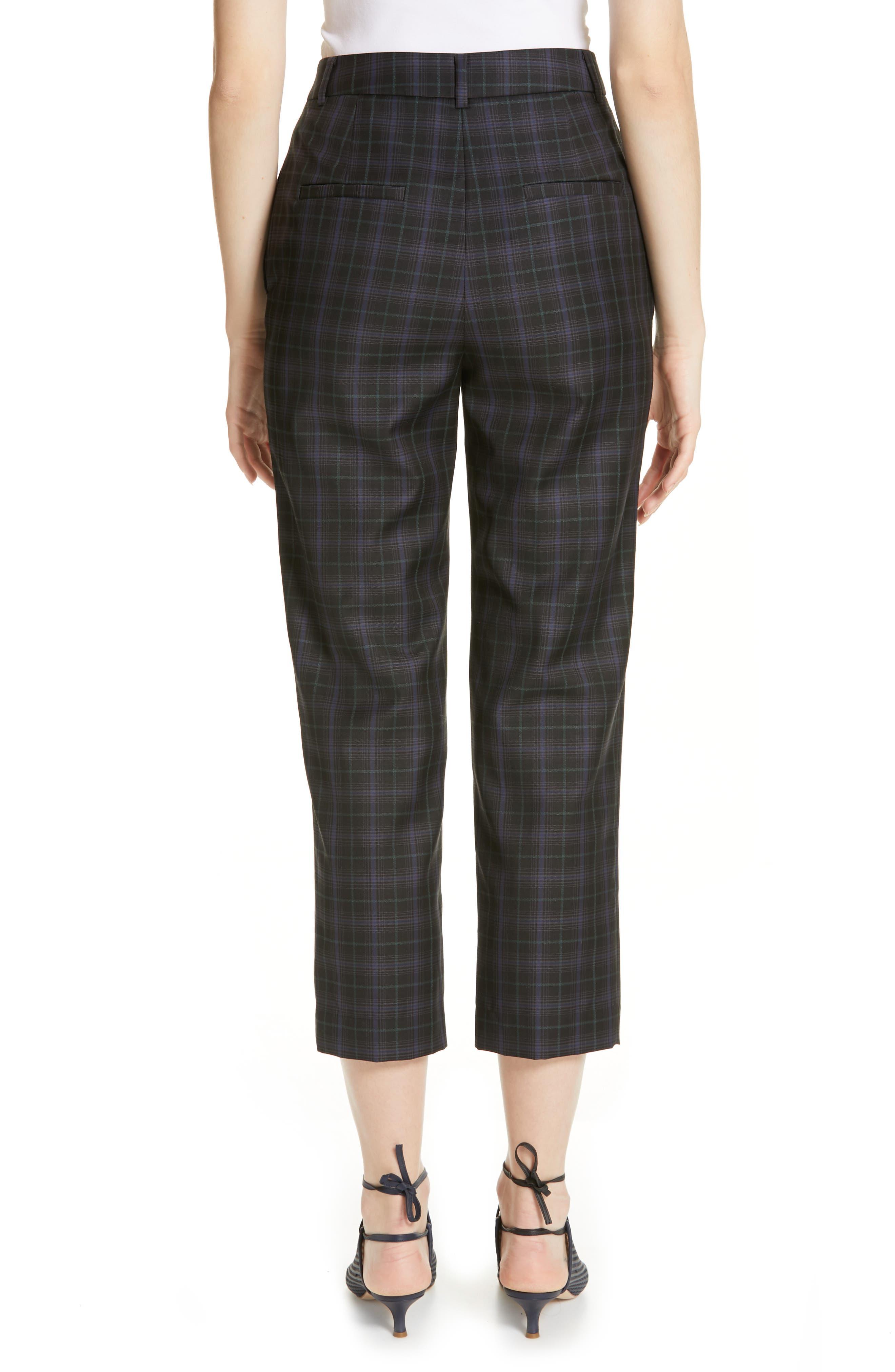 ,                             Taylor Marvel Plaid Crop Pants,                             Alternate thumbnail 2, color,                             BLACK MULTI