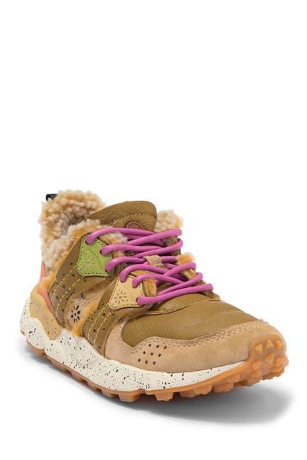 Image of Flower Mountain Corax Nylon & Faux Fur Sneaker