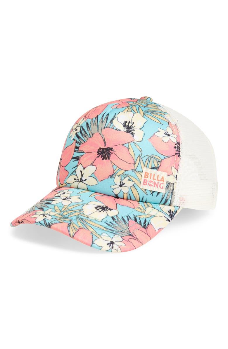BILLABONG Shenanigans Trucker Hat, Main, color, MO MINT