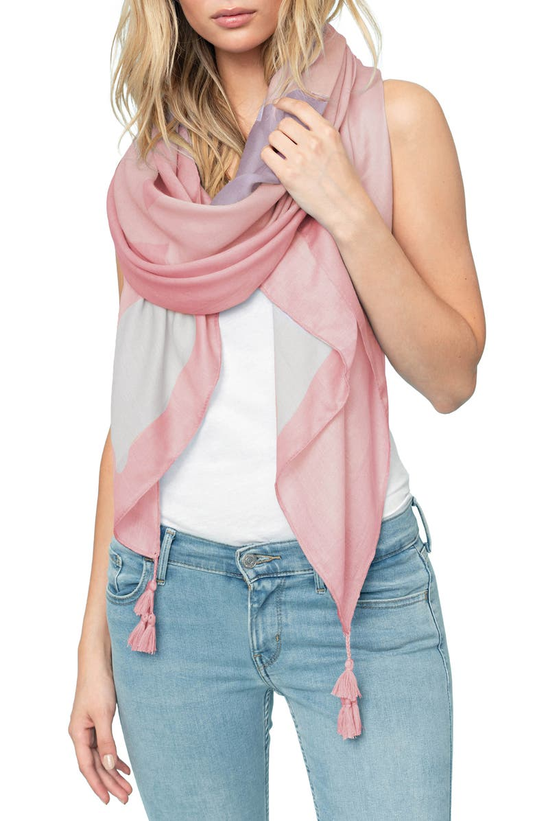 SOIA & KYO Print Scarf, Main, color, ROSE