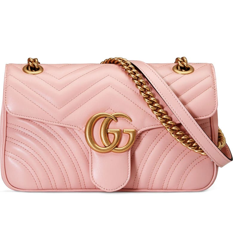 GUCCI Small GG Marmont 2.0 Matelassé Leather Shoulder Bag, Main, color, PERFECT PINK/ PERFECT PINK