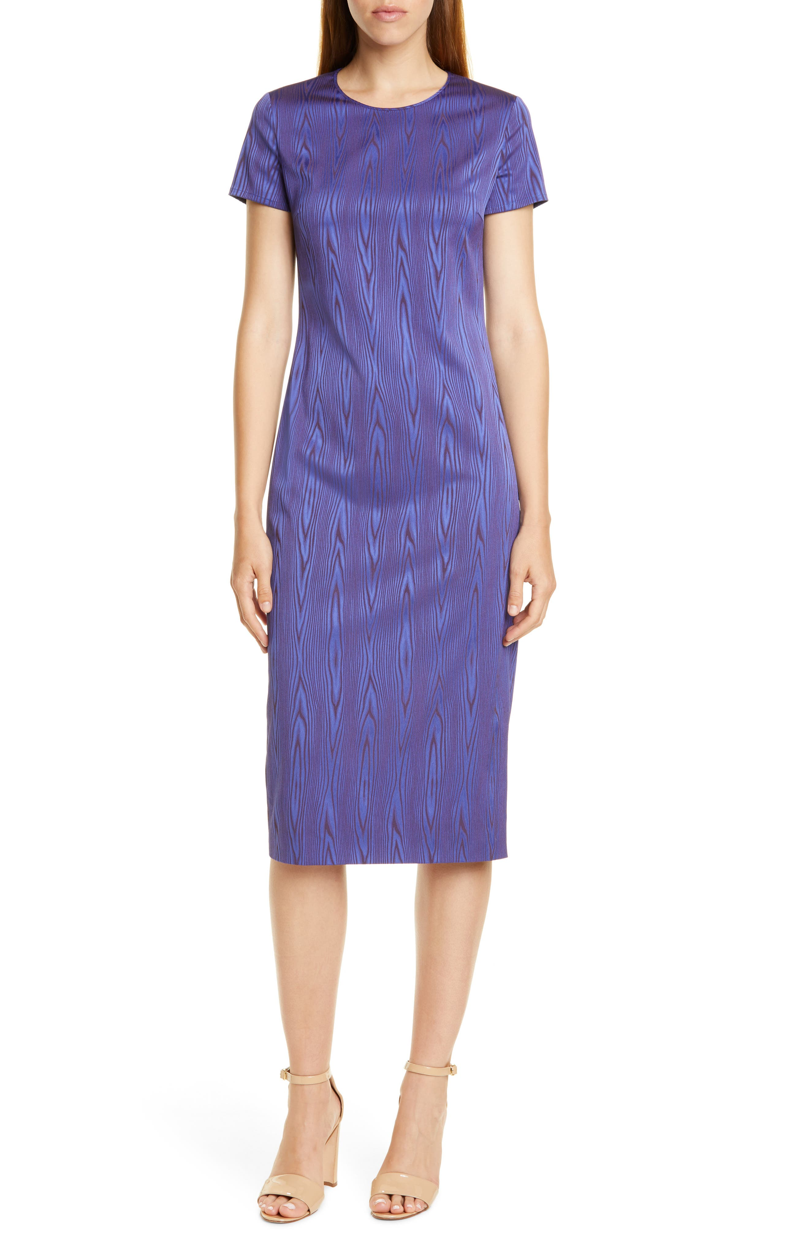 Boss Dixery Jacquard Sheath Dress, Blue (Nordstrom Exclusive)
