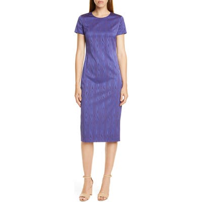 Boss Dixery Jacquard Sheath Dress, Blue (Nordstrom Exclusive)