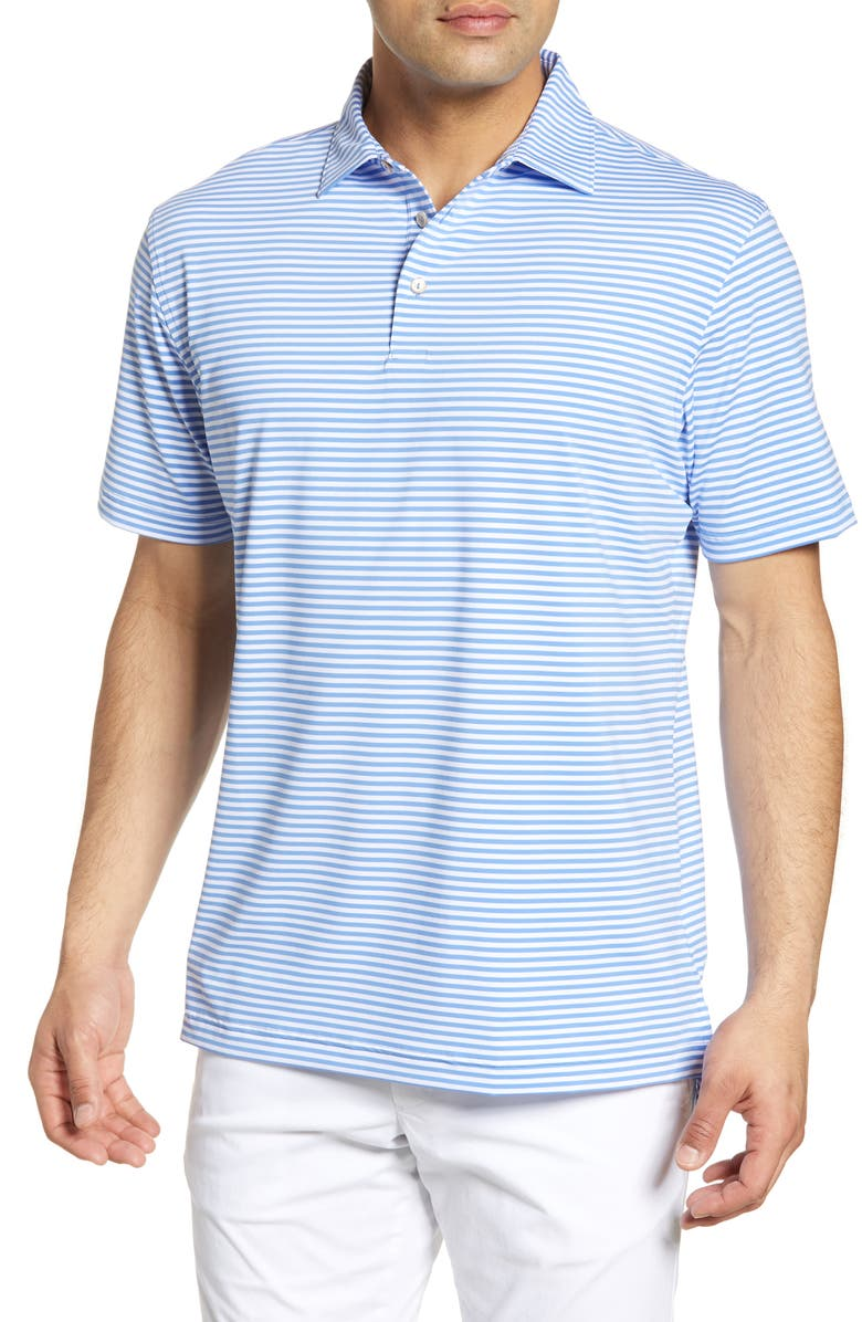PETER MILLAR Stripe Stretch Jersey Performance Polo, Main, color, 111