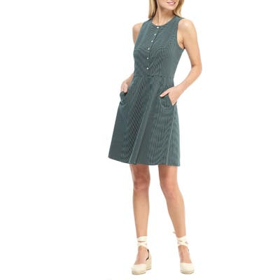 Gal Meets Glam Collection Meg Sleeveless Jacquard Fit & Flare Dress, Green (Nordstrom Exclusive)