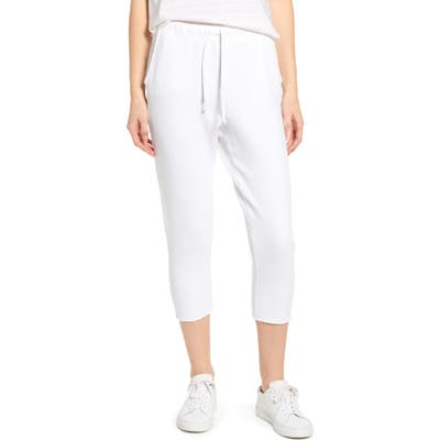 Frank & Eileen Tee Lab Raw Hem Crop Sweatpants, White