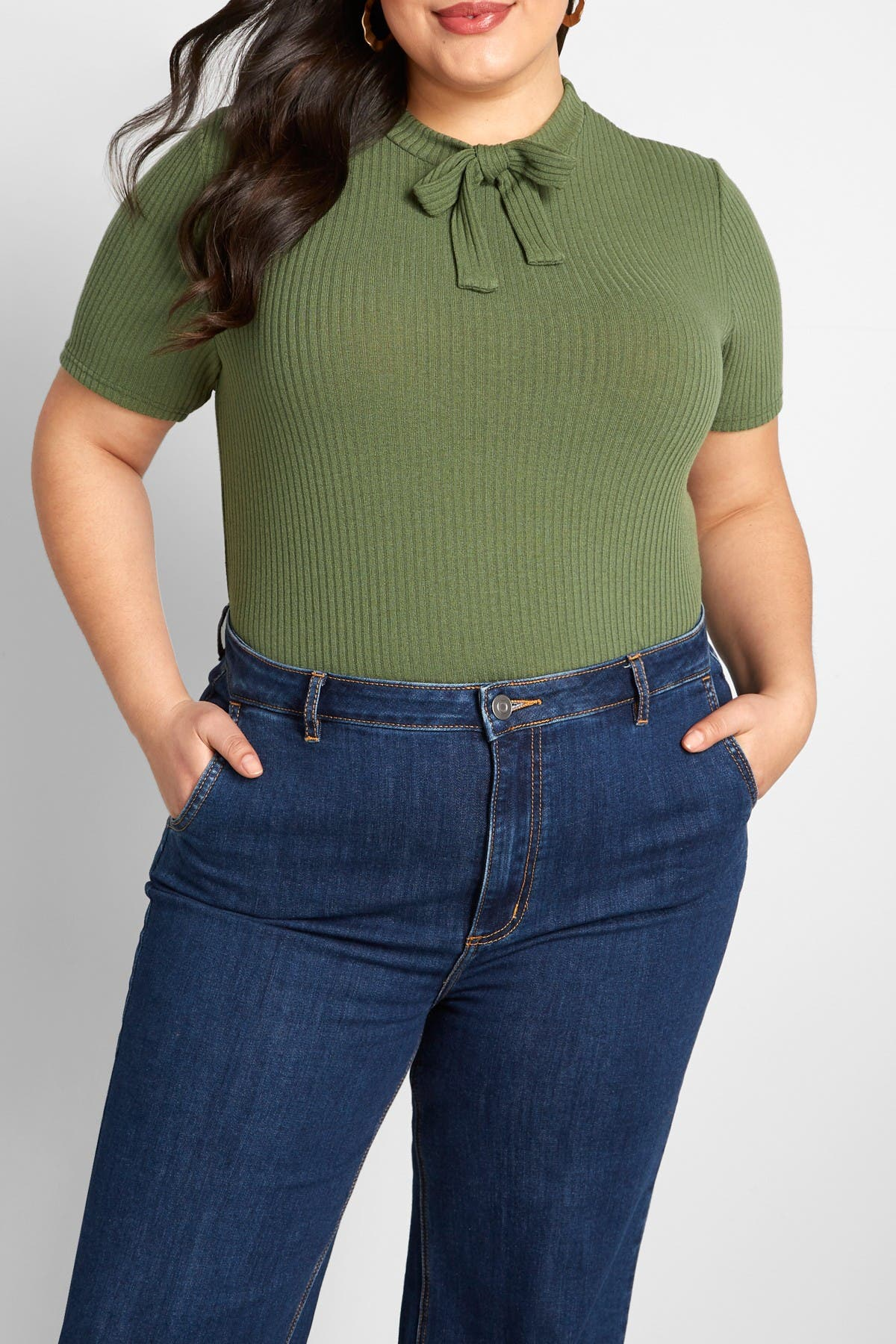 Image of MODCLOTH Palpable Perks Tie Neck Top