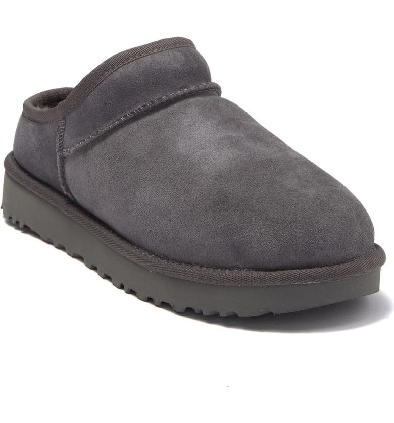 UGG Suede Classic Slipper, Main, color, GREY
