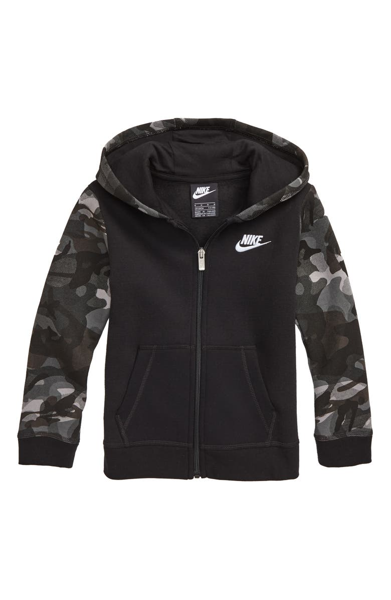 NIKE Club Full Zip Hoodie, Main, color, 019