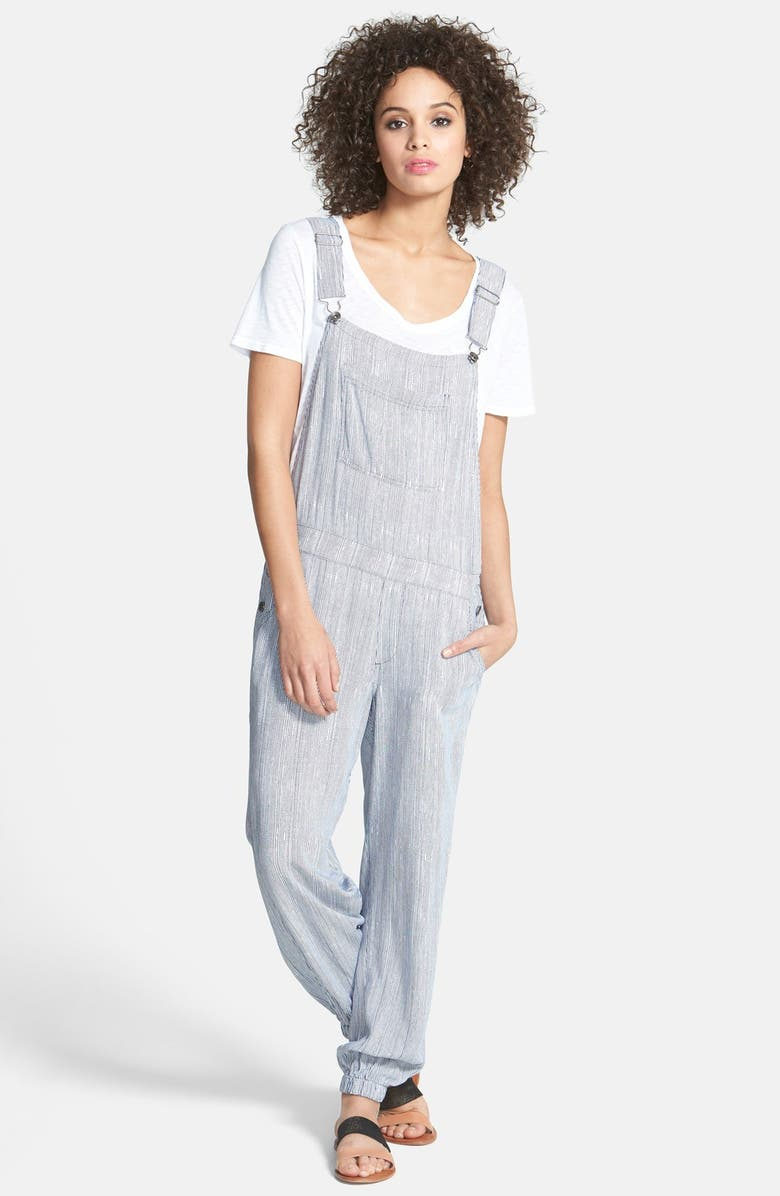 SPLENDID Railroad Stripe Overalls, Main, color, 414