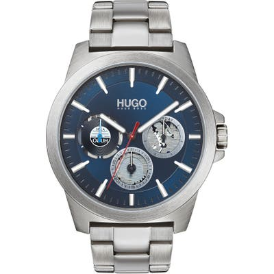 Hugo Twist Multifunction Bracelet Watch, 4m
