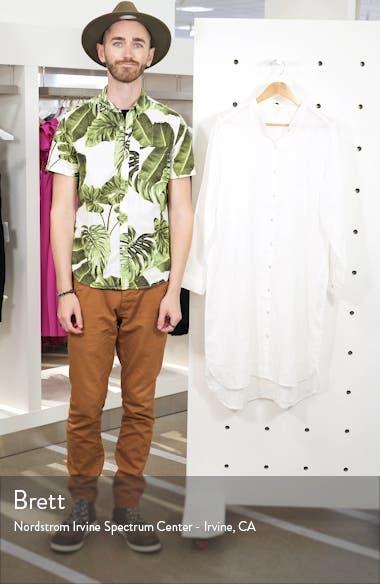 Button Down Organic Linen Shirtdress, sales video thumbnail