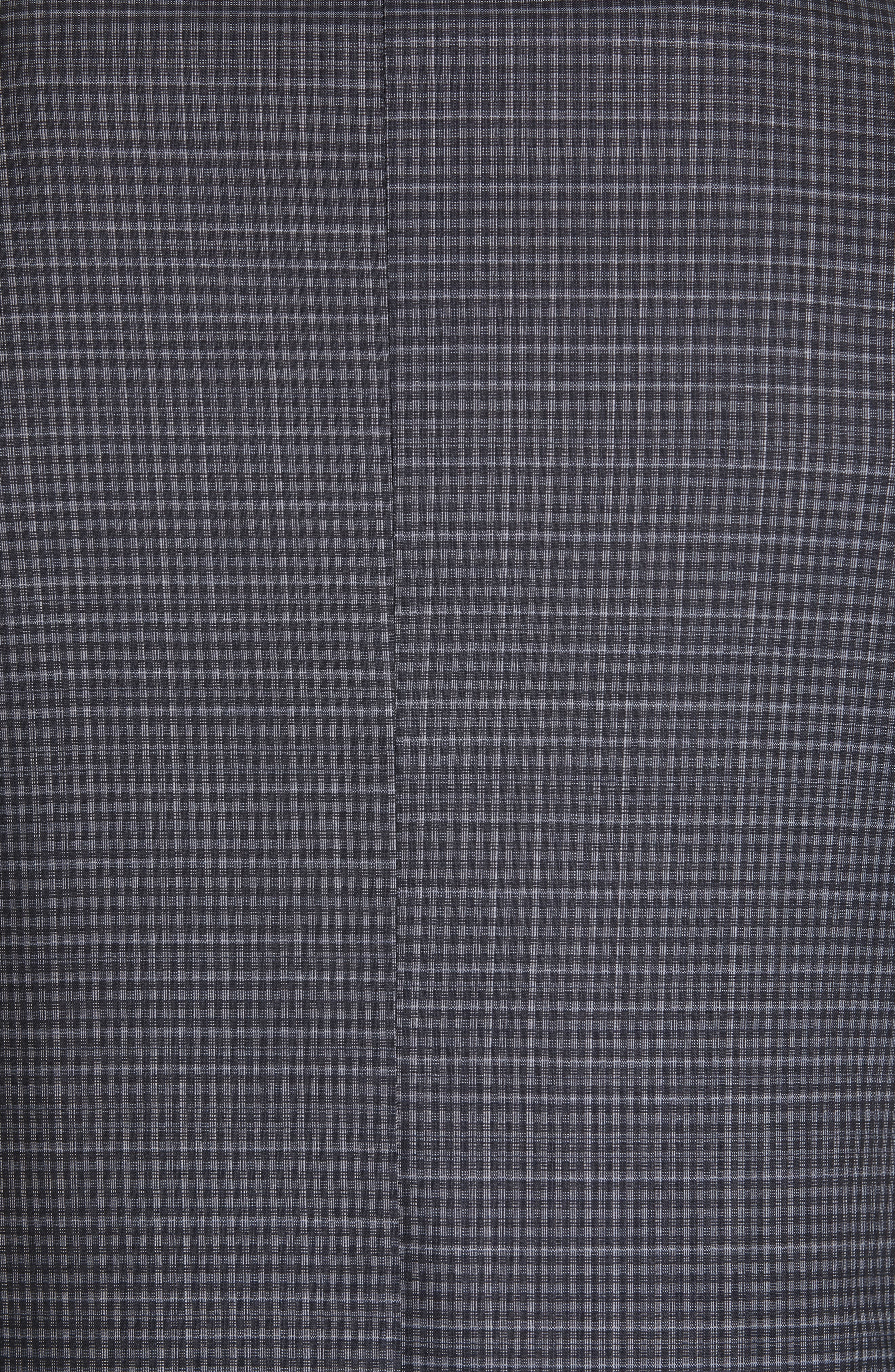 ,                             Milano Trim Fit Check Wool Suit,                             Alternate thumbnail 7, color,                             CHARCOAL