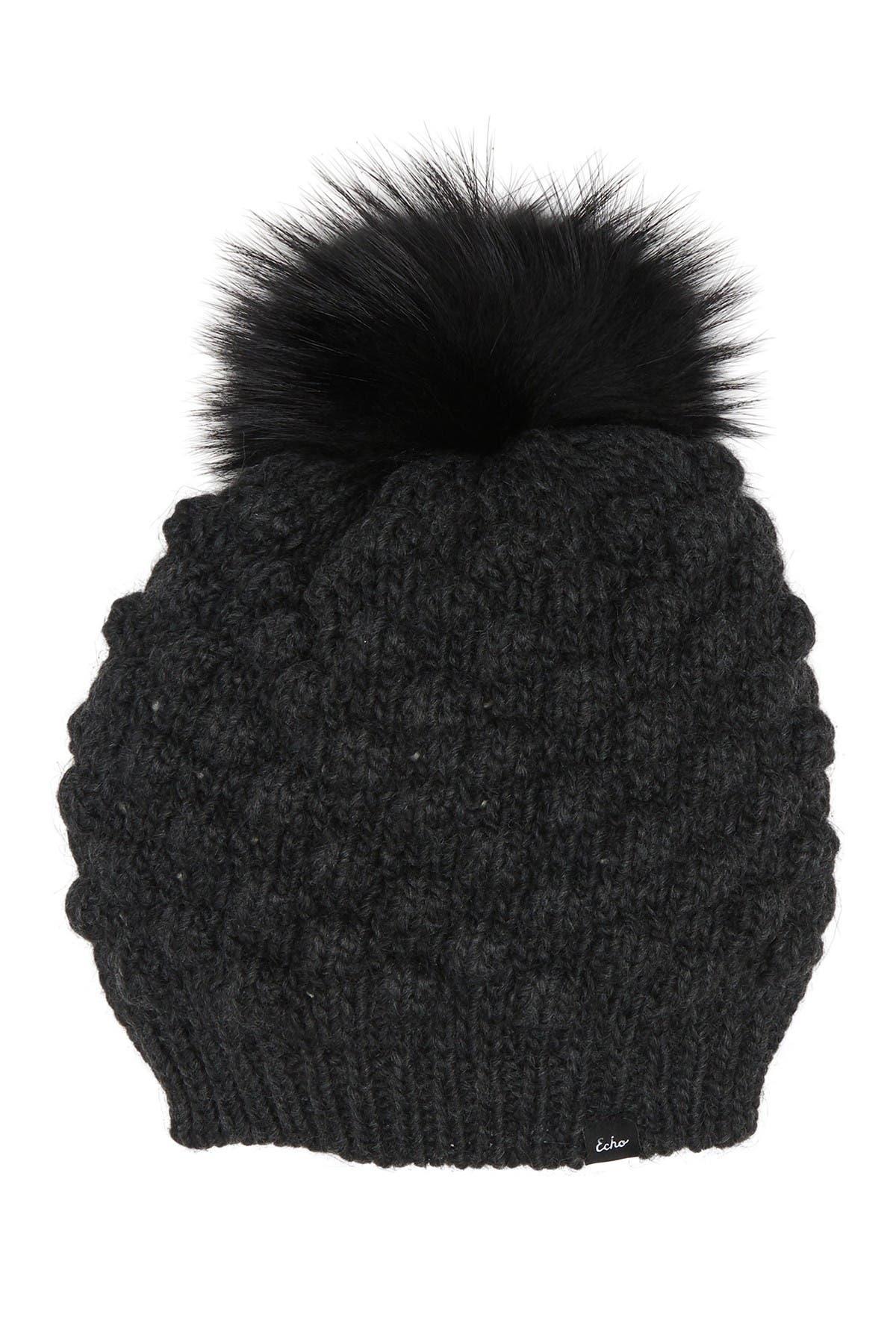 Image of echo Faux Fur Pompom Popcorn Hat