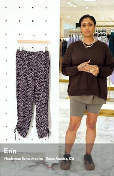 Marrakesh Lace Ditsy Ruched Ankle Pants, sales video thumbnail