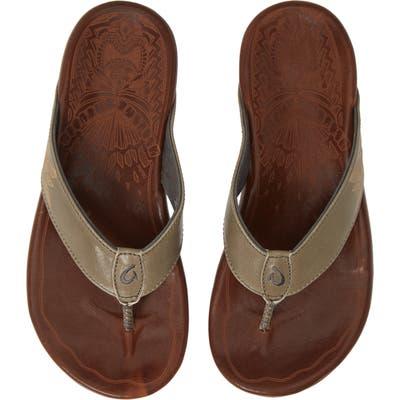 Olukai Kulia Flip Flop, Brown