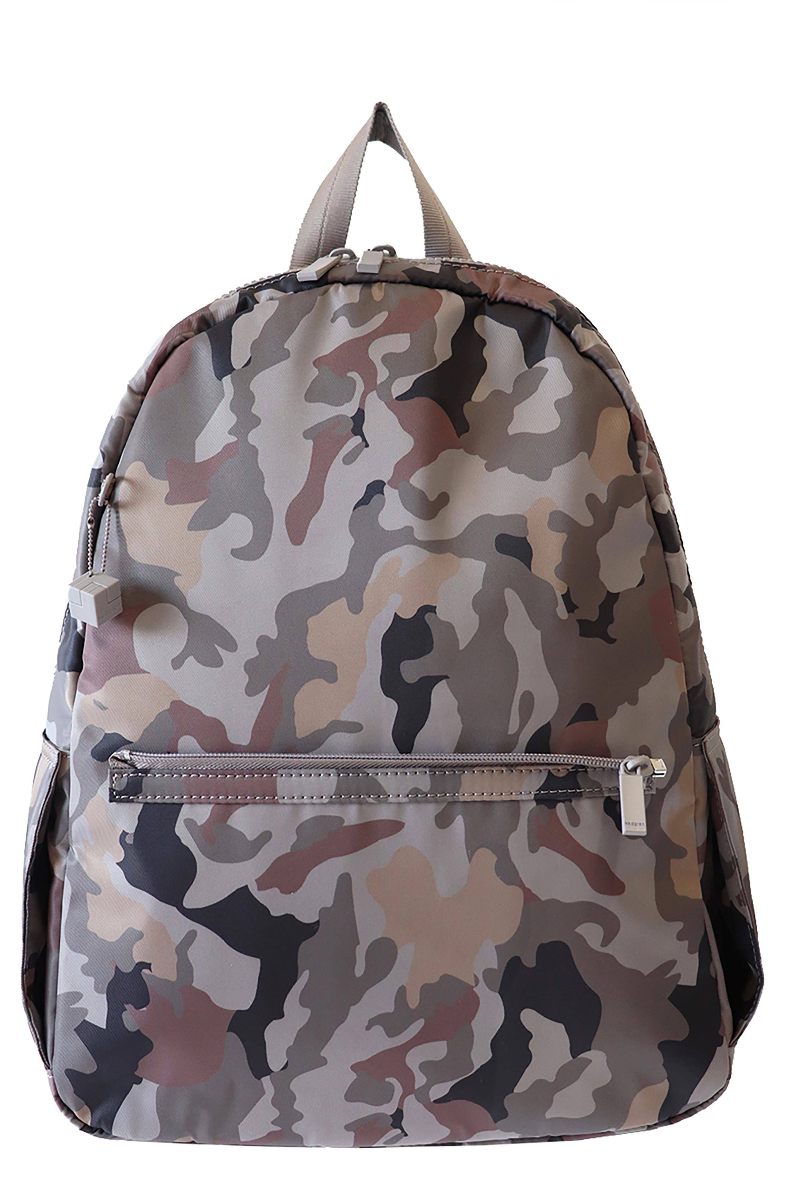 Earth Water Repellent Camo Print Backpack