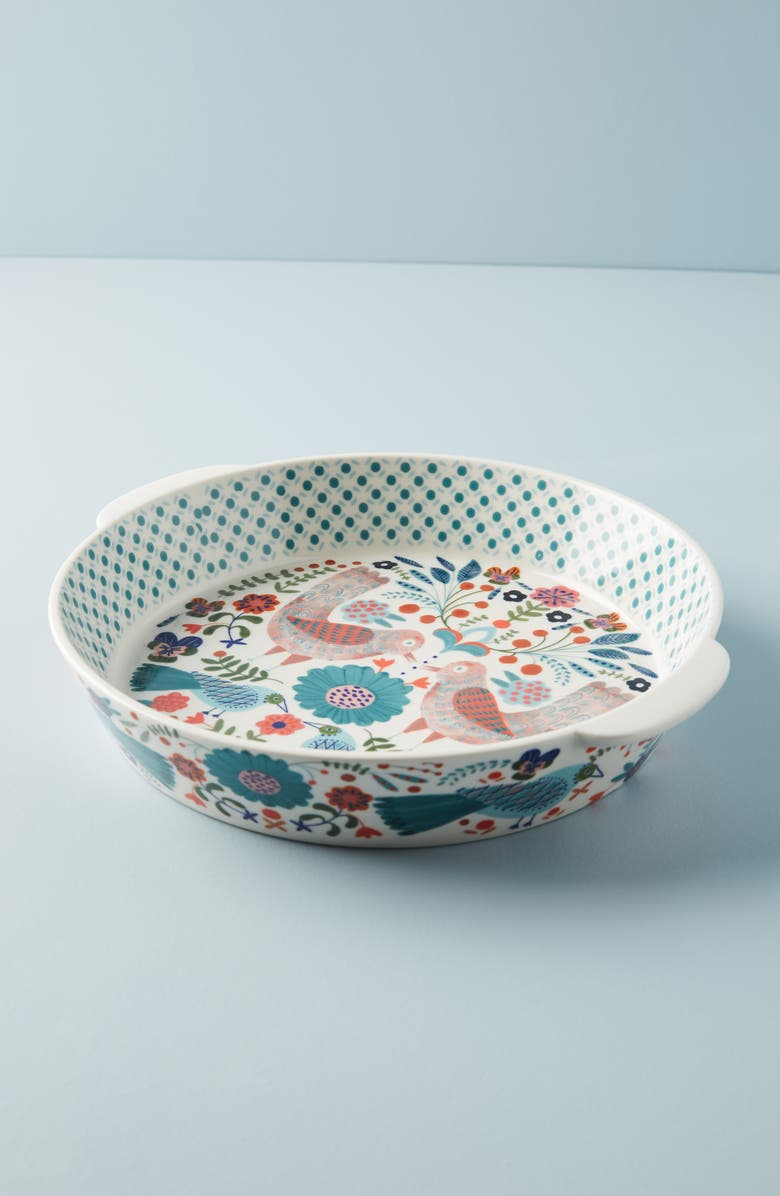 ANTHROPOLOGIE Monique Pie Dish, Main, color, 440
