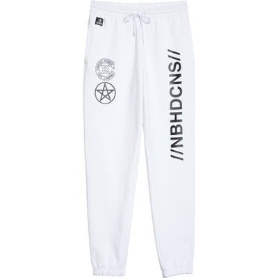 Converse X Neighborhood Logo Sweatpants, White (Nordstrom Exclusive)
