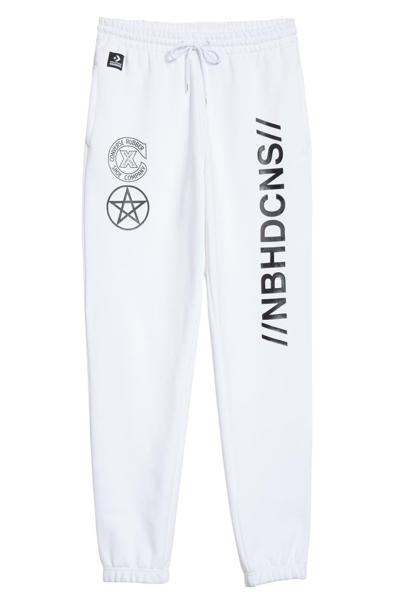 CONVERSE x NEIGHBORHOOD Logo Sweatpants, Main, color, WHITE
