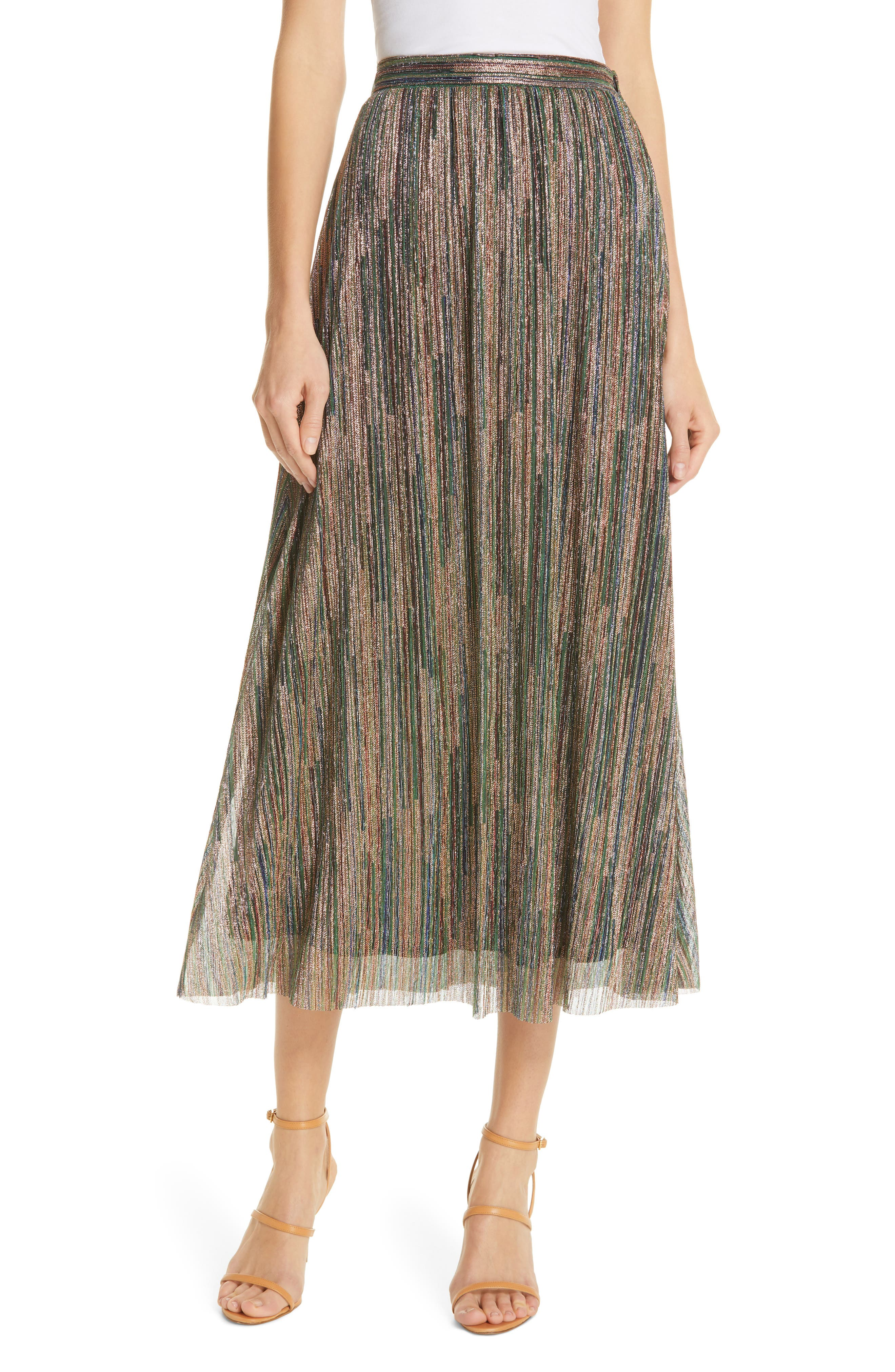 Ba&sh Skirts Suzon Metallic Midi Skirt