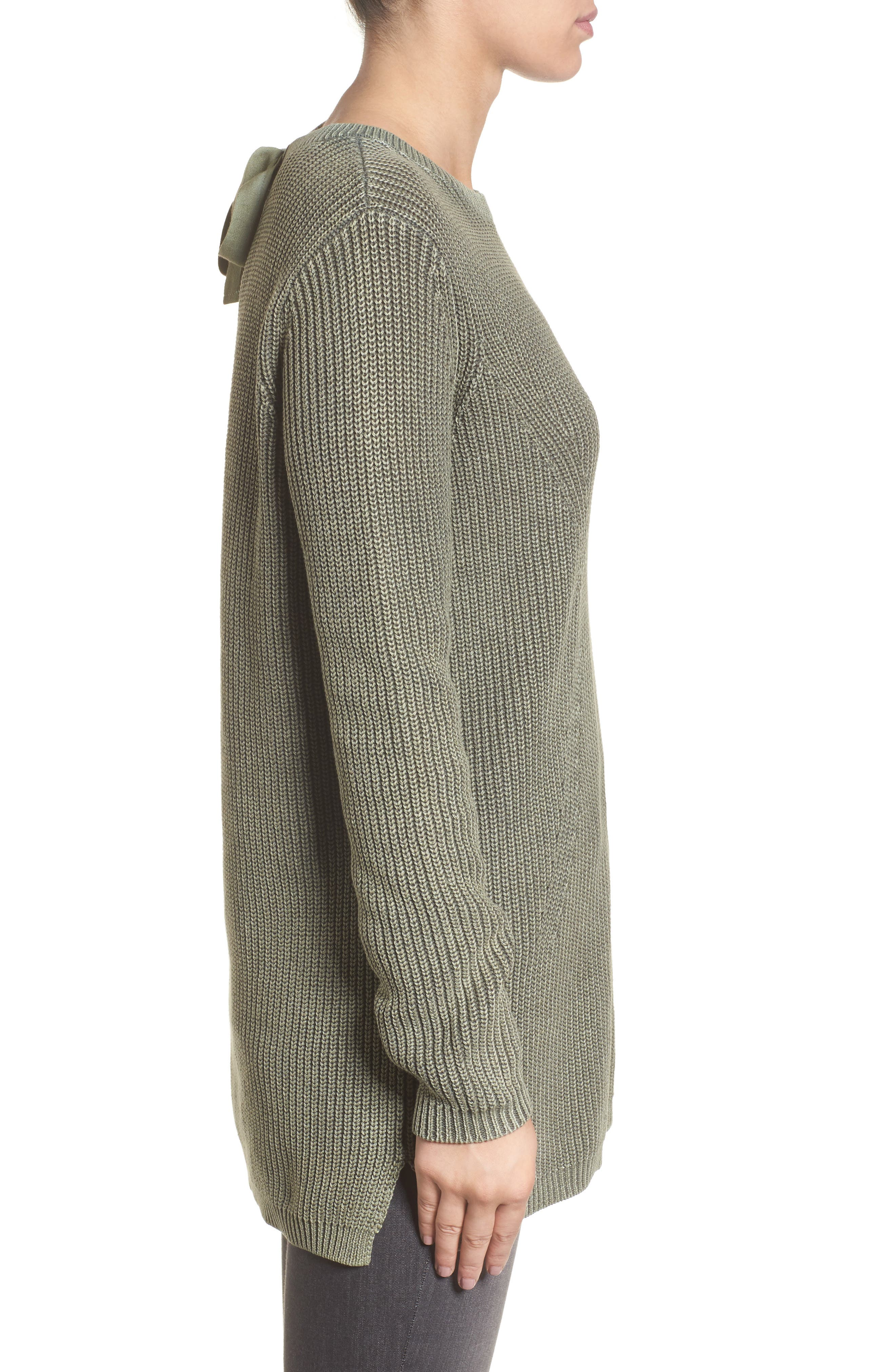 ,                             Tie Back Tunic Sweater,                             Alternate thumbnail 9, color,                             311