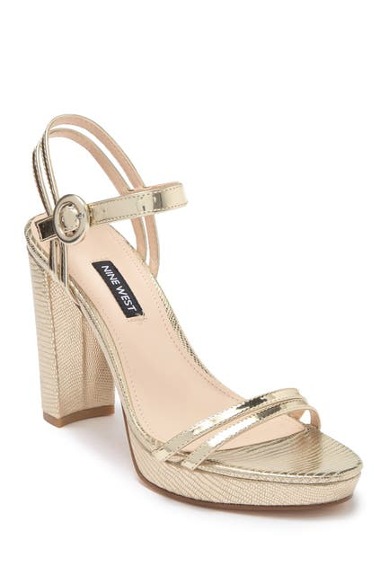 Image of Nine West Daisy Metallic Platform Sandal