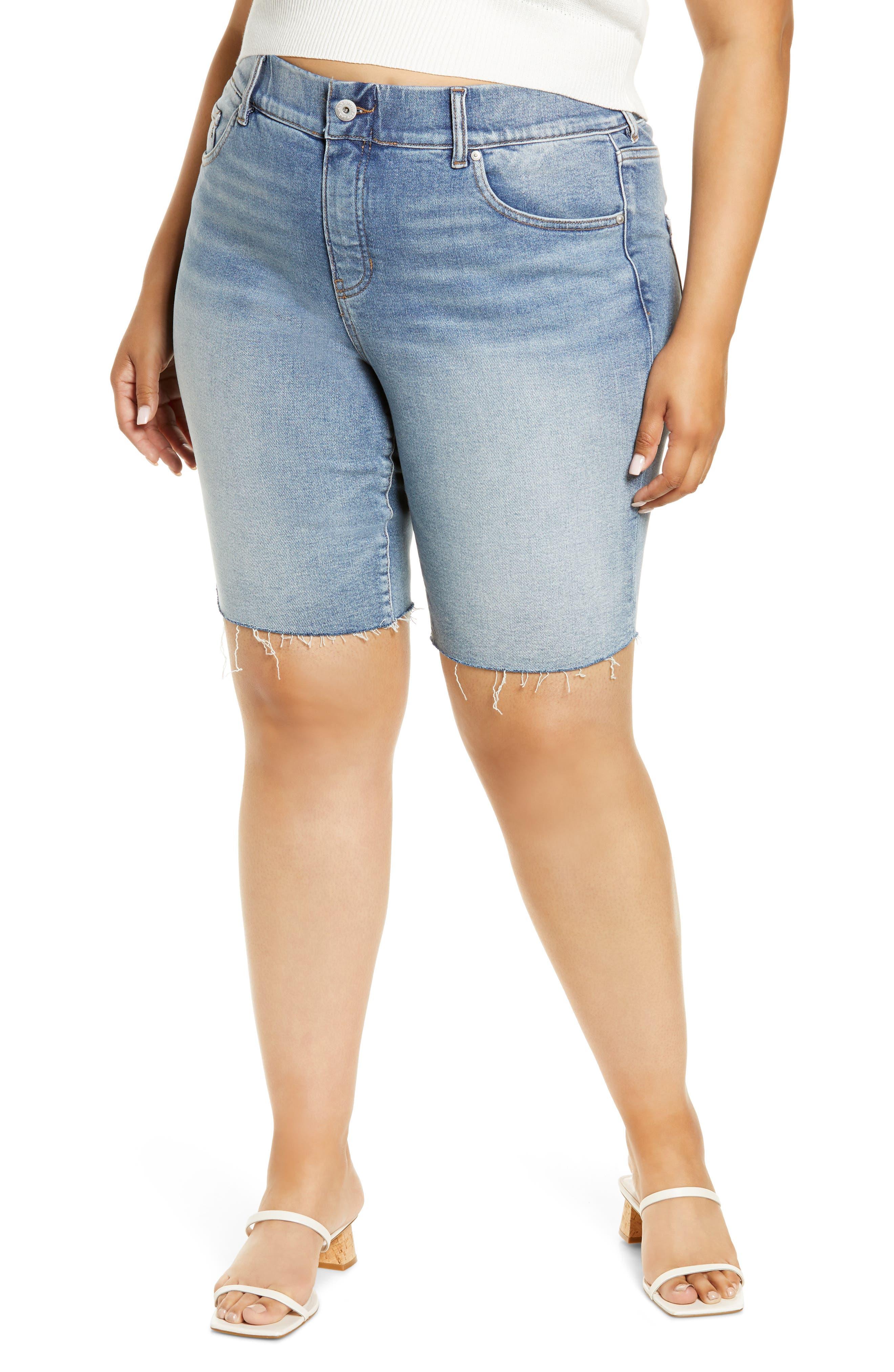 Valentina High Waist Cutoff Denim Shorts