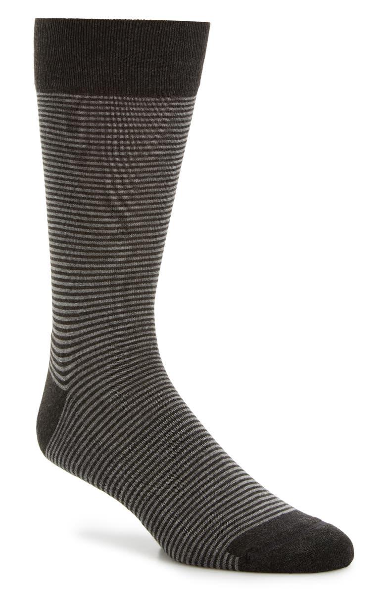 NORDSTROM MEN'S SHOP Nordstrom Mens Shop Feeder Stripe Socks, Main, color, 021