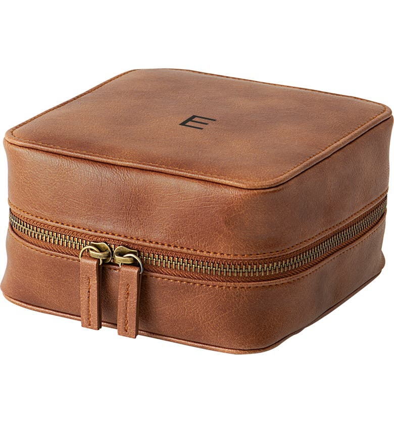 CATHY'S CONCEPTS Cathy's Concept Monogram Tech Travel Case, Main, color, BROWN E
